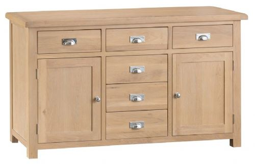 Oxford Oak 2 Door 6 Drawer Sideboard